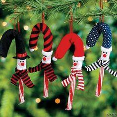One Dozen Snowman Candy Cane Cover Ornaments Christmas Candy Crafts, Candy Cane Crafts, Diy Christmas Ornaments, Holiday Crafts, Christmas Holidays, Christmas Decorations, Christmas Ideas, Snowman Decorations, Snowman Crafts