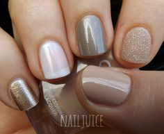 Nail Juice: Nail Mail! Pt. 2: Golds & Neutral colors:  Golds & Neutrals Keep Me On My Mistletoesies, Funny Bunny, Under My Trenchcoat, Godiva, and Avery.