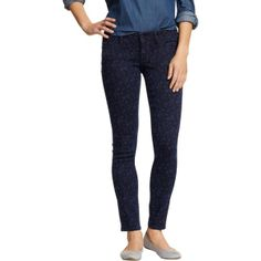 Old Navy Womens The Rockstar Floral Print Skinny Jeans - Navy floral