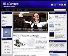 BlueDarknes Blogger Template