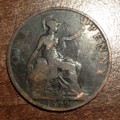 1899 Queen Victoria penny Queen Victoria, Coins, Personalized Items, Coining