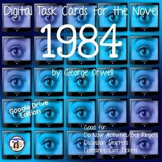 32 Digital Task Cards for the novel 1984 by George Orwell (Google Drive Edition)