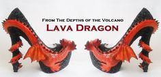 Lava Dragon Heels Style 1 Custom Hand Sculpt by TheElusiveRabbit