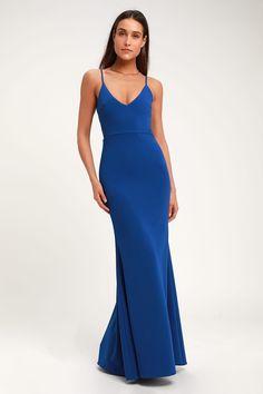 3b80a428 Sexy Royal Blue Maxi Dress - Mermaid Maxi Dress - Bodycon Maxi Forest Green  Dresses,