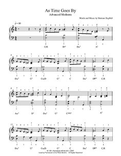 SHEET GOES AS TIME BY MUSIC