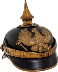 Prussian Non-Commissioned Officers' Spiked Helmet (Pickelhaube)....