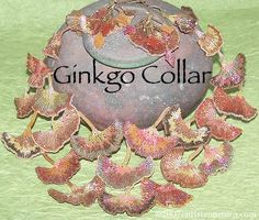 ❤ =^..^= ❤    Ginkgo Collar- Beaded Jewelry Ensemble By Christen Brown