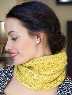 The Tree of Life Cowl by Courtney Kelley featuring Road to China in Citrine, 2 skeins.