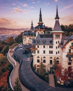 Sunset colors over beautiful Zurich, Switzerland! 🌅 The Dolder Grand offers views of the Alps and Lake Zurich. Would you stay here? (📸: 📍: The Dolder Grand - . City Resort, Lake Zurich, Road Trip, Sunset Colors, Beautiful Hotels, Destinations, Grand Hotel, Best Vacations, Alps