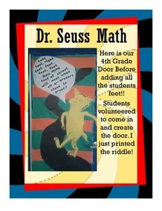 Math class wants to celebrate Dr. Seuss birthday and Read Across America Week too!! ON SALE NOW!! $4.50