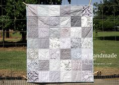 Sew Handmade: Gray Patchwork Child's Quilt - For Sale!