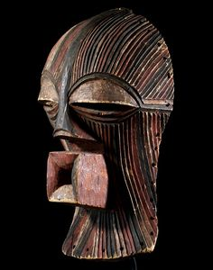 Africa | Female Kifwebe mask from the Songye people of DR Congo | ca. early 20th century