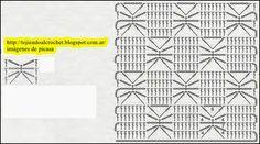 PATRONES - CROCHET - GANCHILLO - GRAFICOS: PUNTOS TEJIDOS A CROCHET CON SUS DIAGRAMAS