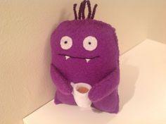 Tea Monster  Felt handmade original decoration / toy by MonsterDen