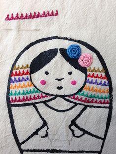 Indian edging stitch, María Tenorio, Gineceo, FronteraD