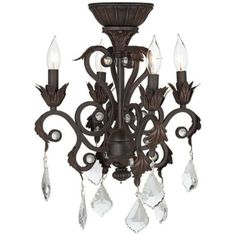 4-Light Oil-Rubbed Bronze Chandelier Ceiling Fan Light Kit.  This is what I want on my ceiling fan in my sewing room.