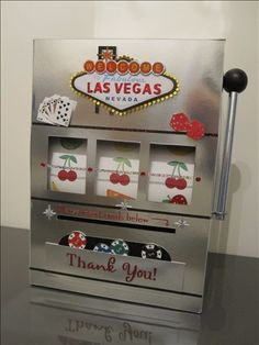 the Vegas themed card box I made for my wedding reception :)
