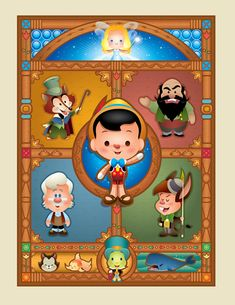 https://flic.kr/p/dzXGF2 | Pinocchio - WonderGround Gallery | This is one of my pieces for the new Good vs. Evil show at the WonderGround Gallery in the Downtown Disney District (Anaheim, CA). I'll be appearing at the gallery on December 15, 2012 from 1-3pm.  More info here - collections.disney.go.com/events/good-vs-evil-debut-at-wo...