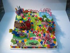 Candyland cake - this is just TOO COOL!