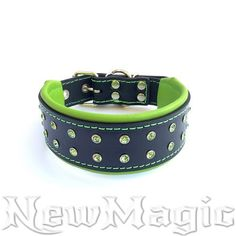 Hey, I found this really awesome Etsy listing at https://www.etsy.com/il-en/listing/265064953/black-and-green-custom-dog-collar-with
