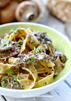 Pappardelle With Porcini Mushroom And White Truffle Cream