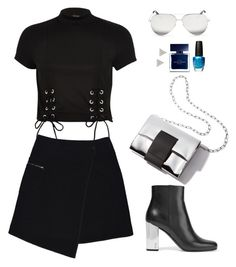 """""""Untitled #506"""" by hayleyl22 ❤ liked on Polyvore featuring MARC CAIN, River Island, Yves Saint Laurent, Victoria Beckham, OPI, Narciso Rodriguez and Lizzie Mandler"""