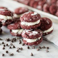 Red Velvet Chocolate Chip Crinkle Cookies
