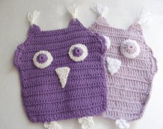 Handmade Crochet Owl Potholders Kitchen by Vestberet on Etsy Purple Kitchen Decor, Purple Kitchen Accessories, Fall Kitchen Decor, Purple Toaster, Design My Kitchen, Crochet Top, Crochet Hats, Kitchen Collection, Potholders