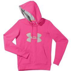 3c076f2b54aa Under Armour Women s Armour Fleece Storm Big Logo Hoody ( 55) ❤ liked on  Polyvore