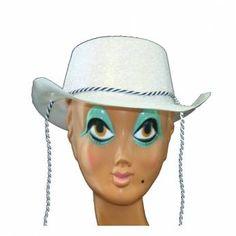 Cowboyhoed Wit Glitter