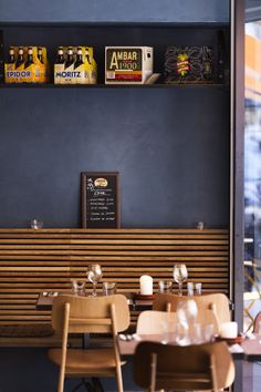 navy + wood  |  bar moritz at the hotel sp34 {copenhagen} #restaurantdesign