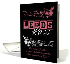 Leeds Lass Birthday Card with Blended Flowers card (1146804)