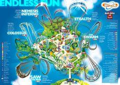 Thorpe Park MAp