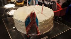 If you're looking for something patriotic, or enjoy putting together puzzles out of cake, here's a project to take to your 4th of July cookout (or cook in, as the weather may dictate for some). It's a cake you make that, when assembled, makes each piece into an American flag. Perhaps it's a little gimmicky, but it's pretty cool when you see the entire thing come together.