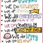 Basic rules needed in every classroom, in a free printable!... First bounce back lesson. Write a reflection on what rules we have done as examples of living and breathing our guidelines (the following week).