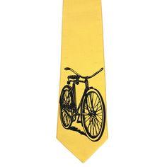 Bicycle Necktie Mustard mustard, jes switaj, men's ties