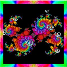 psychedelic peace jumping