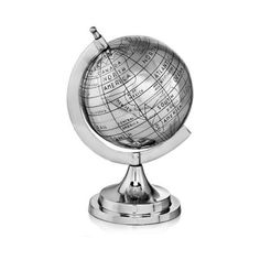 Modern Day Accents 3589 Mundo Old World Globe Silver Home Decor Globes found on Polyvore featuring home, home decor, accents, globes, silver, silver home accessories, silver home decor, old world home decor and old world globe