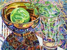 I first saw Janet Fish's work at the Yale Art Museum. I don't understand how she is able to so beautifully depict glass and am in awe of her technique.