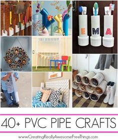 Over 40 DIY PVC Pipe Craft Projects