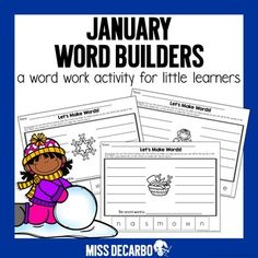 Browse over 250 educational resources created by Miss DeCarbo in the official Teachers Pay Teachers store. Word Work Activities, Spelling Activities, Winter Activities, Phonics Games, Word Building, Create Words, Little Learners, Word Study, Word Families