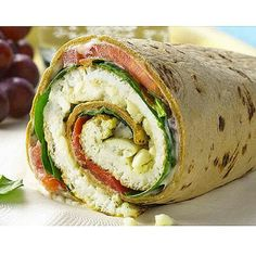 Egg white, spinach & feta breakfast wrap