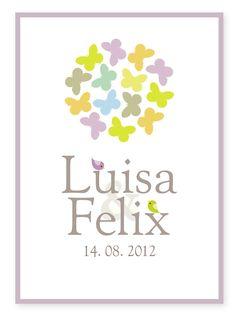 Geschenk zur Hochzeit - FINEART-Kunstdruck personalisiert