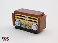 #RETRO #RADIO #Sticker for #LEGO tiles and bricks on www.brick-pimp.com