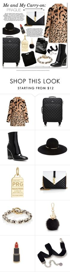 """""""Me and My Carry-On: PRAGUE"""" by laurajanekatriina ❤ liked on Polyvore featuring Kate Spade, Alexander Wang, Gianvito Rossi, Eugenia Kim, Jet Set Candy, Yves Saint Laurent, Hoorsenbuhs, Furla, Georgia Perry and Sweet Romance"""