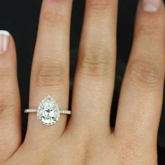 Best Moissanite Pear Engagement Ring Products on Wanelo
