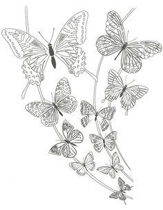 tatouage les papillons à colorier
