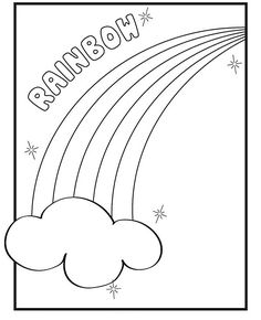 free rainbows coloring pages | Rainbow Coloring Pages With Color Words | Free coloring ...