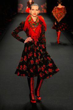 Russian style in fashion. Design by Lena Hoschek (Vienna, Austria).