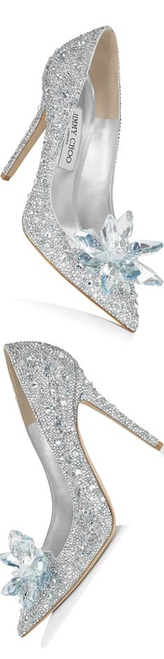 Jimmy Choo Cinderella 110 Crystal Covered Pointy Toe Pump